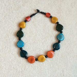 Multi color stone necklace